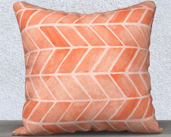"""Coral Velveteen Accent Pillow Cover, 14""""x20"""", 18""""18"""""""