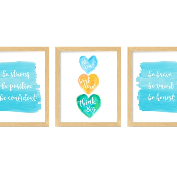 Home School Inspiration; Set of 3 Young  Girl Power Prints
