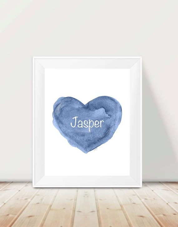 Personalized Baby Boy Gift, Boy Print, 11x14 Name Print