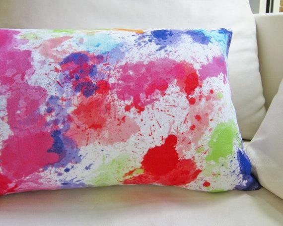 Paint Splatter Pillow, 12x20