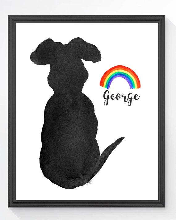 Dog Rainbow Bridge Personalized Print in 5x7 or 8x10