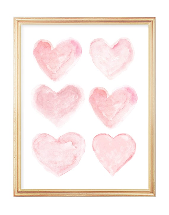 Blushing Hearts Collage Print