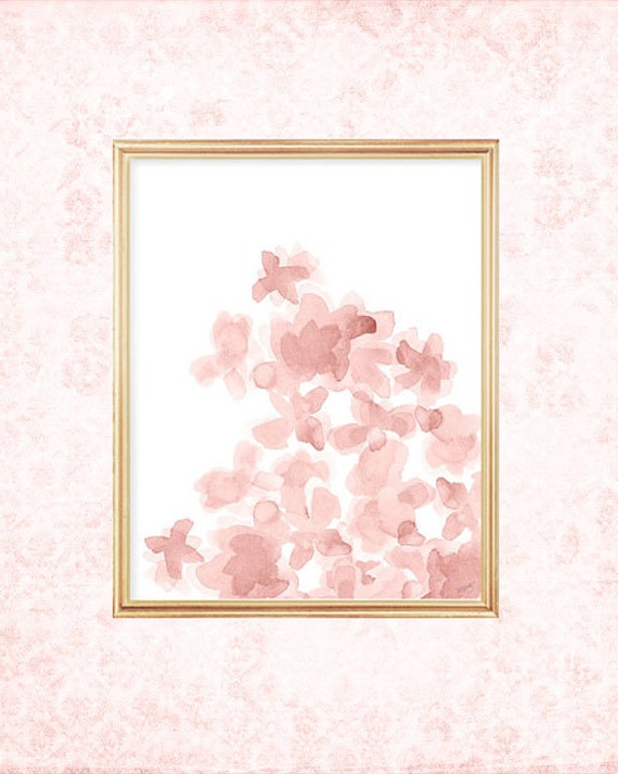 Blush Flower Print, 8x10 Watercolor Print