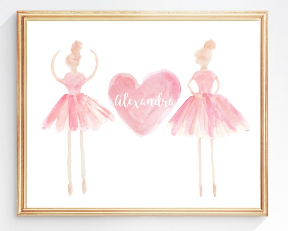 Personalized Ballerina Print, 8x10