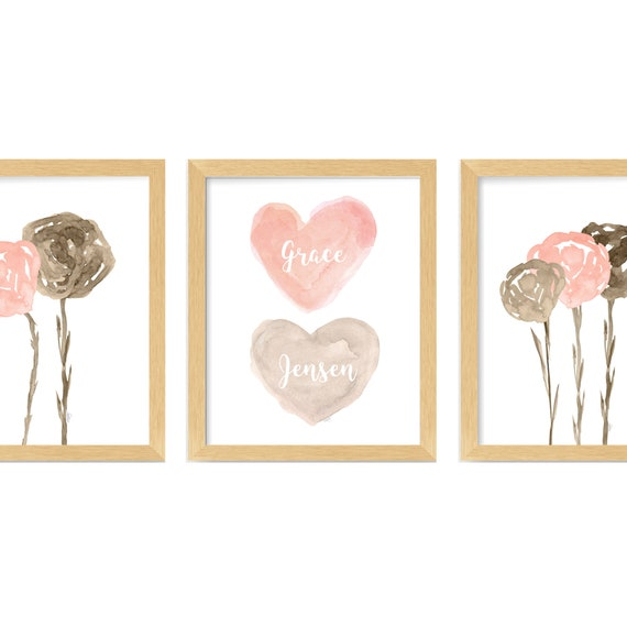 Natural Wall Decor for Girls Bedroom or Bathroom