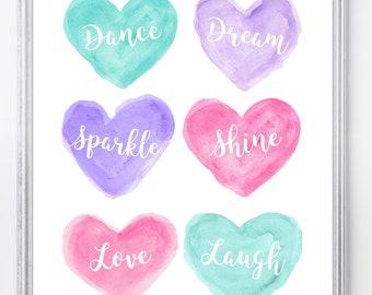 Ballet Bedroom Decor, Dancer Inspirational Print, Ballerina Birthday Present, Ballet Wall Decor, Inspirational Ballerina Decor, Young Dancer