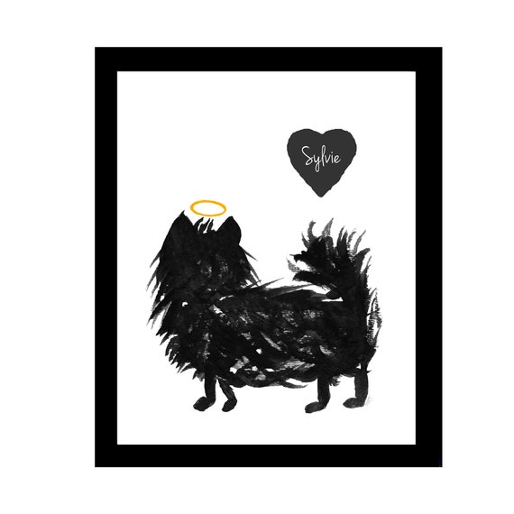 Pomeranian Memorial Gift: Personalized Print in 5x7 or 8x10