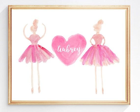 Ballet Recital Gift, 8x10 Personalized Ballerina Print