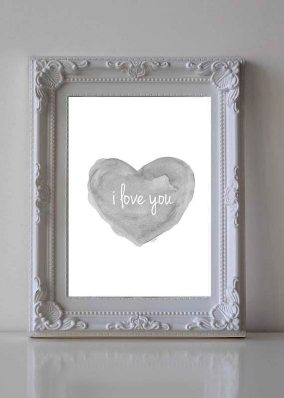 I Love You Print for Nursery, 5x7, 8x10