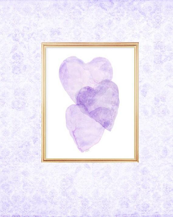 Delicate Lavender Baby Nursery Print, 5x7, 8x10