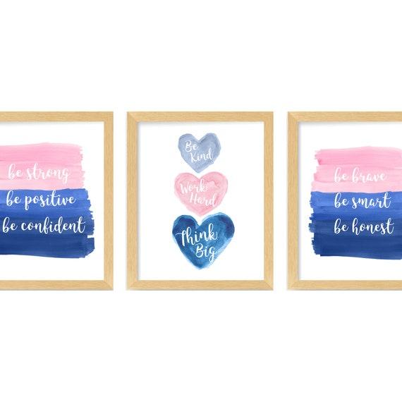 Teen Girl Room Decor, Set of 3 Inspirational Art Prints