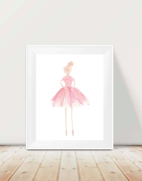 Blush Ballerina Print for LIttle Dancer