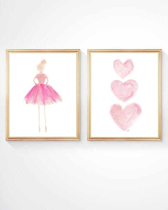 Ballet Prints for Nursery, 8x10 set of 2