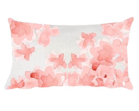 Blush Flower Nursery Pillow, 12x20