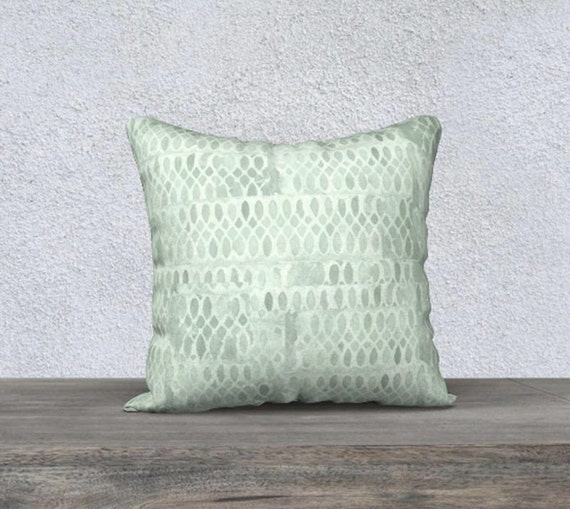 "Mint Pillowcase in Velveteen, 14""x20"", 18"" x18"""