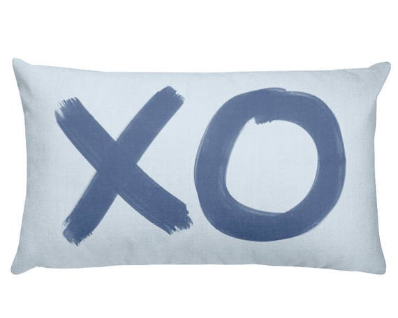 XO Pillow for Baby Boy, 12x20, 6 Colors