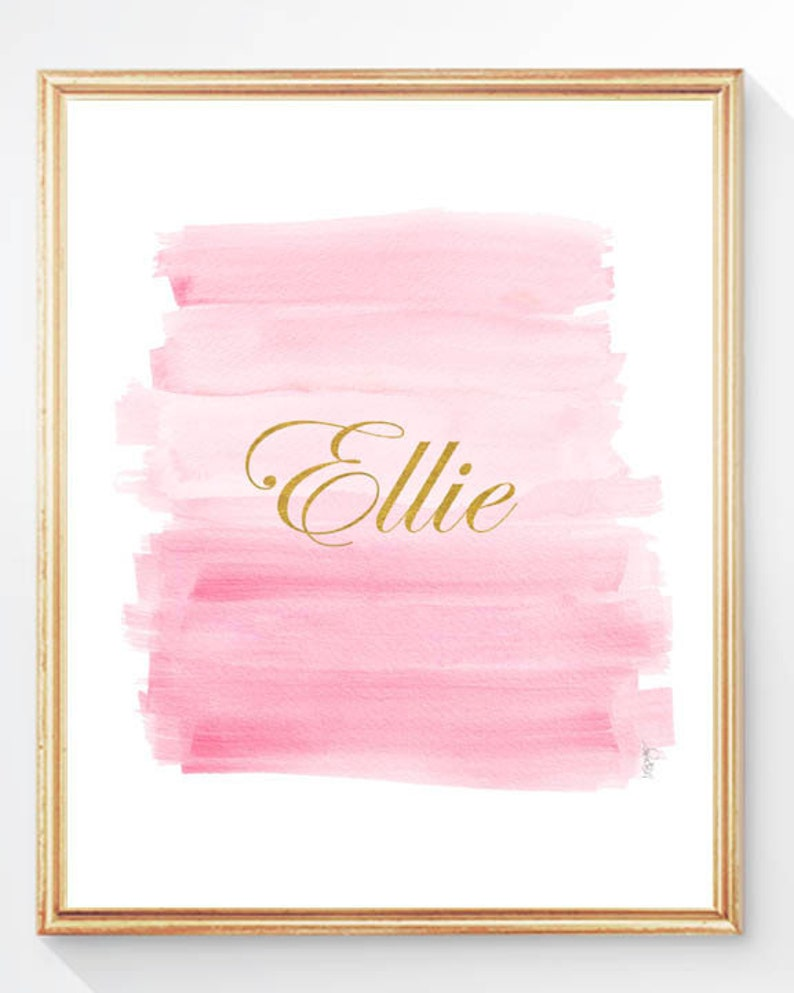 Pink And Gold Wall Decor Pink And Silver Wall Decor Pink And Silver Art Personalized Pink And Gold Nursery Pink And Silver Shower Gift