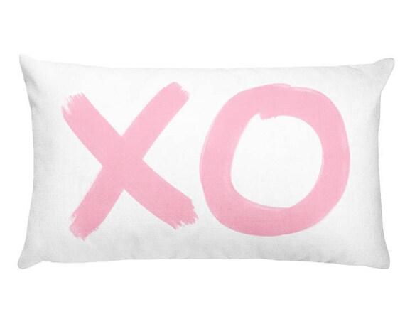Pink XO Pillow, 12x20