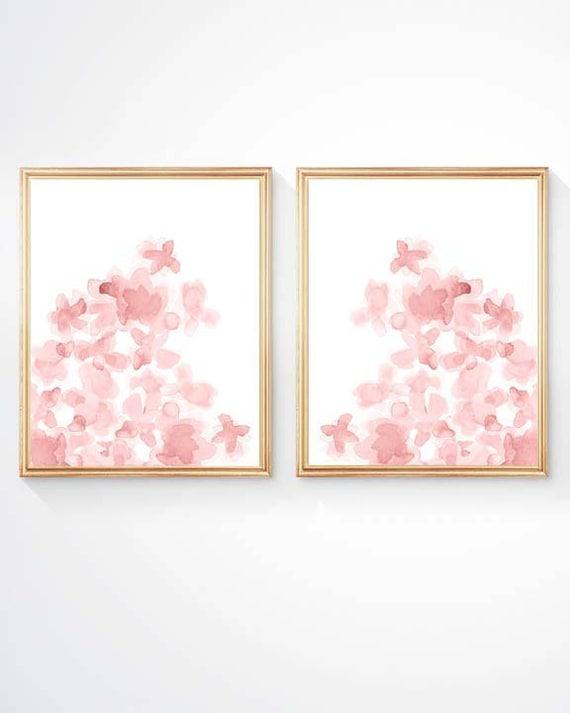 Blush Floral Prints, 11x14