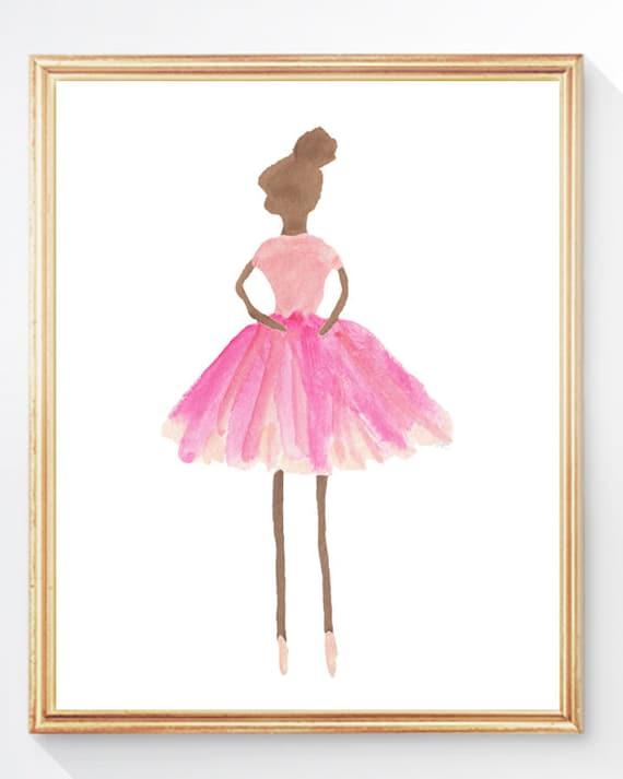 Dark Skin Prima Ballerina Print, 5x7, 8x10