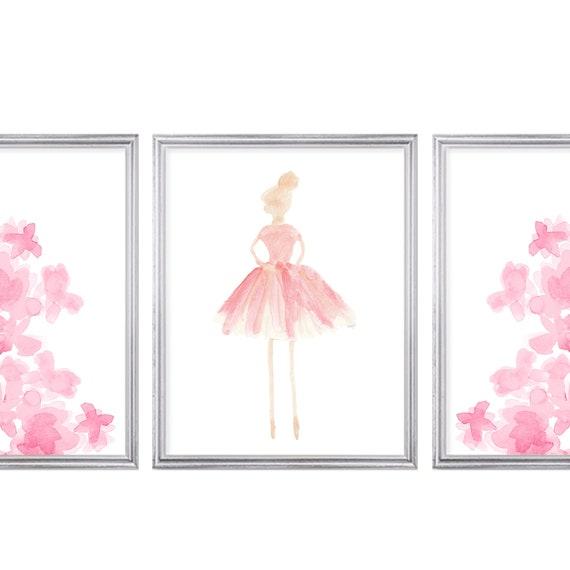 Prima Ballerinas, Set of 3 Girls Bedroom Prints
