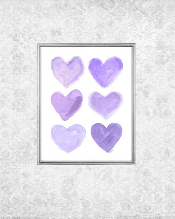 Lavender Nursery Decor, 8x10 Heart Collage Print
