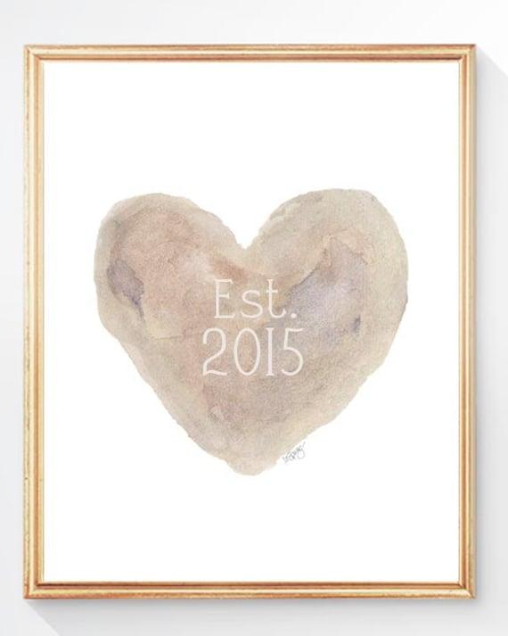 Paper Anniversary Gift, Custom Anniversary Date Gift Print