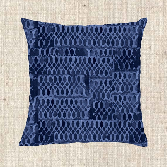 Indigo Pillow Cover, 18x18