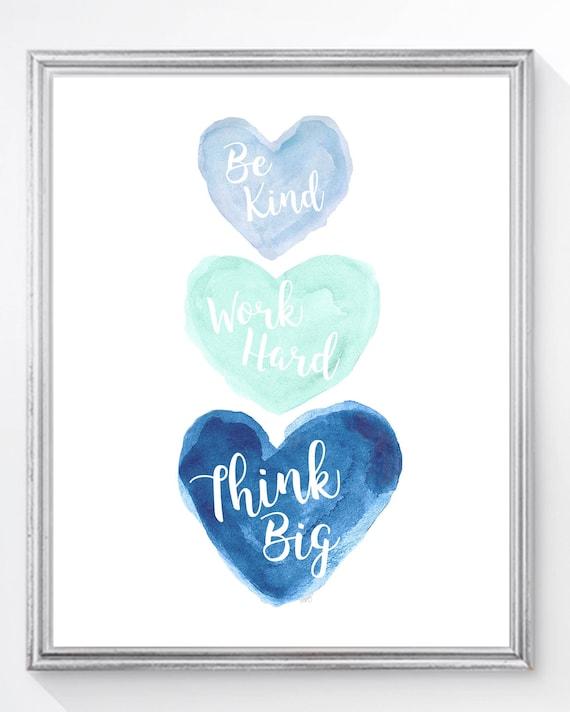 Kids Home School Decor, Inspirational Print 8x10, 11x14