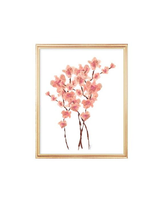 Cherry Blossom Print, 8x10 Asian Decor