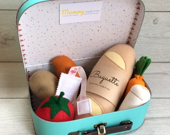Build your own Pretend Play Felt Food Hamper Box - Perfect Gift!