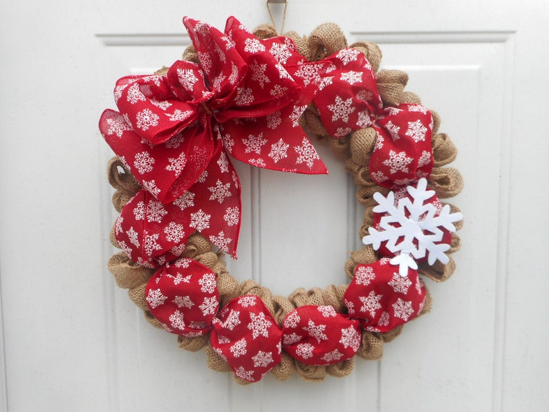Winter burlap wreath Burlap Winter wreath snowflake wreath burlap wreath  burlap wreath Burlap Winter Snowflake wreath Winter door decor RTS