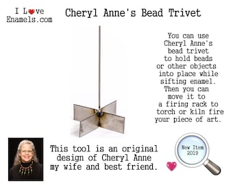 Cheryl Anne's Bead Trivet. Bead Trivet Kit, comes with Bead Trivet, Bead Release and copper spacers, I Love Enamels.com, Enamelist