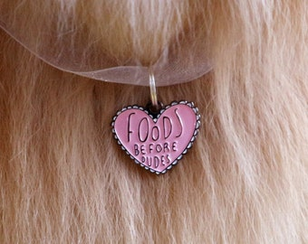 Food Pet Charm- Pet ID Tag - Feminist Collar Tag - Dog Charm - Personalized Pet - Pet Accessories - Dog Tag - Cat Charm - Pet Gift Idea