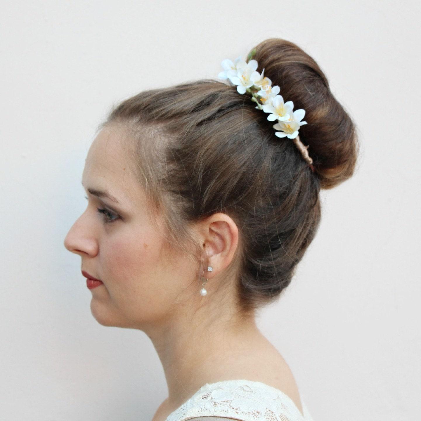 Liliana Floral Bun Belt Flower Crown For Your Hair Bun Coachella