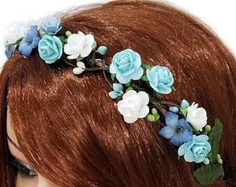 "NEW /""TROPICAL BLUE/"" Cheer Bow Pony Tail 3/"" Ribbon Girls Hair Bows Cheerleading"
