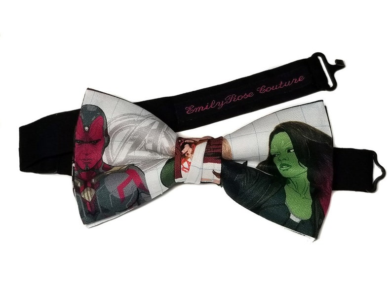 Super Heroes Bow Tie Self Tied Looked Marvel Comics The Avengers Collection Bow Tie Pre Tied Adjustable Neck Strap