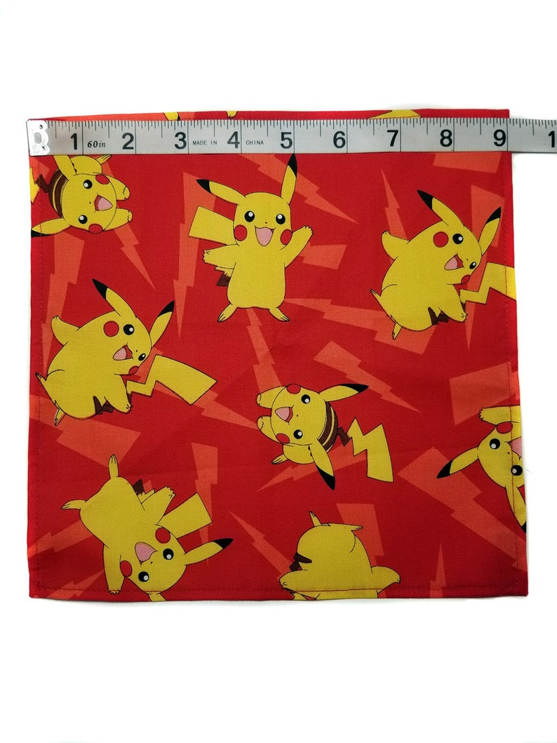 Pre tied Ship in 1 to 2 Days Pokemon Bow Tie Adjustable Straps Pikachu Bow Tie All Sizes Matching Pocket Square
