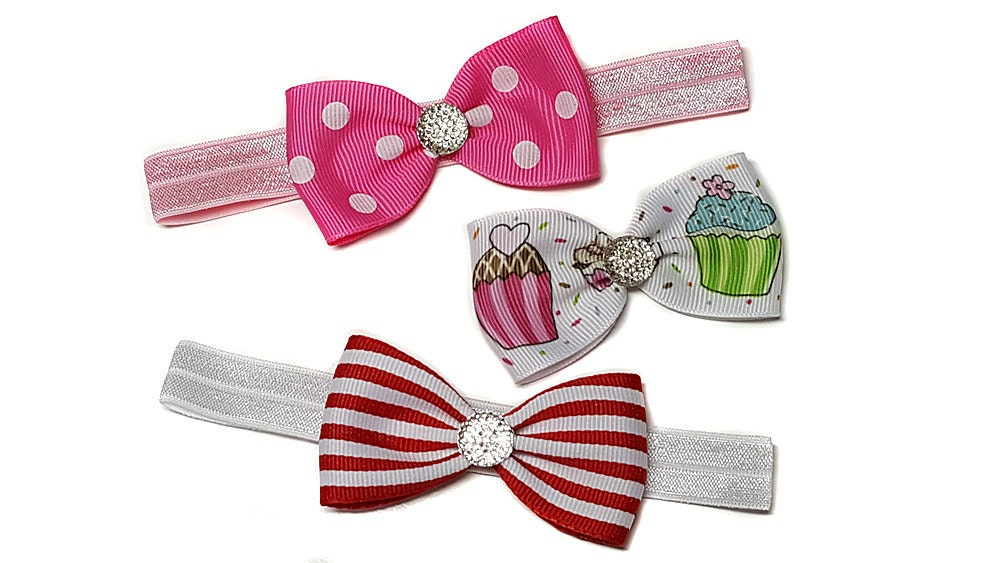 Stripes baby bow
