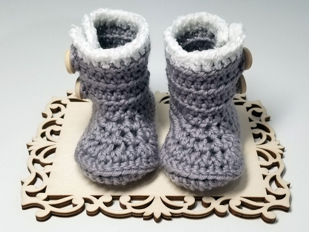 booties hand made wool boots Baby wool boots baby boots wool baby boots