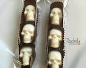 10 Packages SKULLS White Chocolate Party Favors Halloween Candy Sugar Wedding Birthday