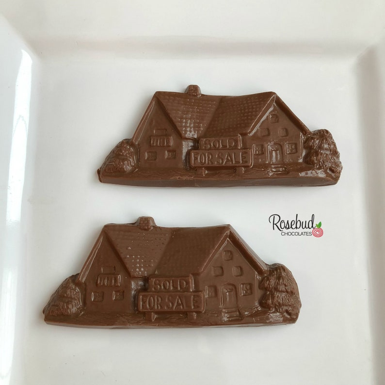 12 HOUSES Chocolate Sold For Sale House Favors New Home Realtor Candy Homeowner Congratulations