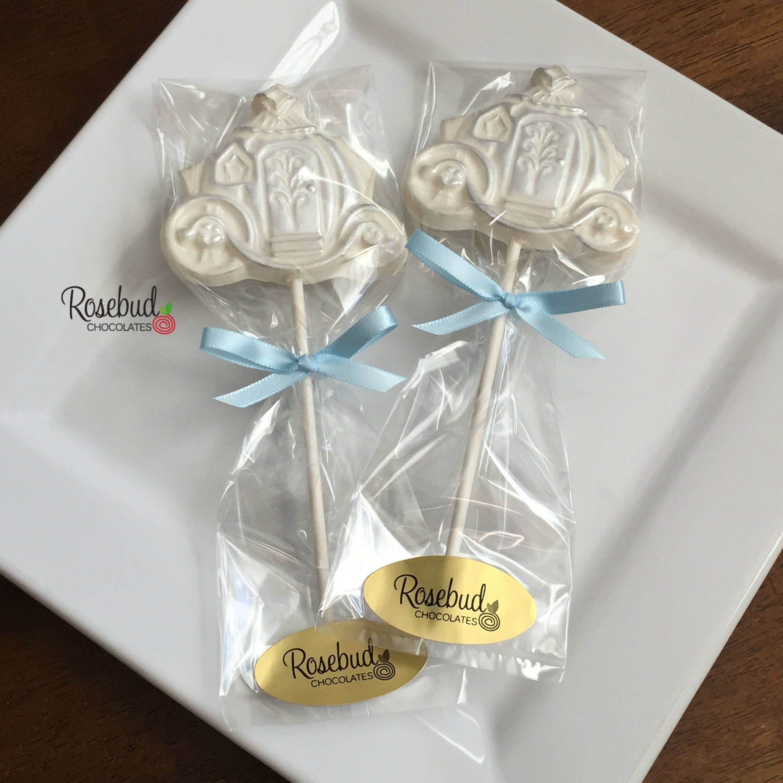 12 Princess COACH Chocolate Lollipops Carriage Birthday