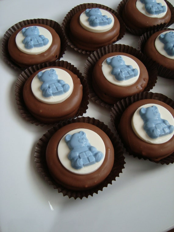 12 Chocolate Oreo Cookies Teddy Bear Baby Shower Party Favors Etsy