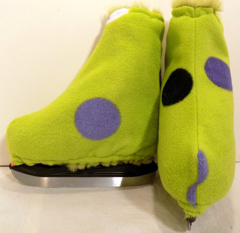 GREEN SPOTS Melvage/'s Ice Skate Boot Warmers /& Hockey Blades Slip-On Covers Size 3-5