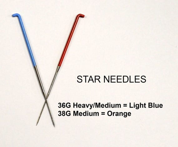 40 Spiral//Twist Made by Groz-Beckert of Germany Precision Felting Needles 36 Gauge Star 38 Gauge Star Color Coded High Carbon Steel