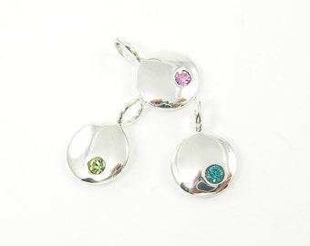 Add a Charm Birthstone Sterling Silver Birthday Charm Birthday Gift Pendant Charm Add on Your Choice |NS4