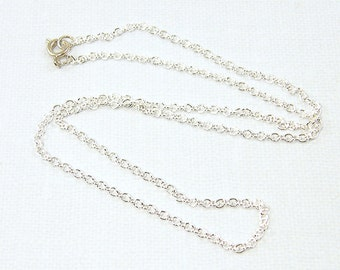 Silver Chain 30 Inch Necklace - Small Link Silver Plated Cable Chain Necklace |CH1-S30