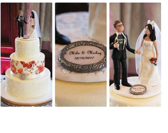 Wedding Cake Topper of Bride and Groom from your Photos