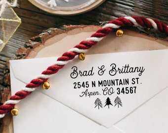Christmas Address Stamp, Return Address Stamp, Holiday Address Stamp, Merry Christmas Address Stamp, Happy Holidays Address Stamp, Gift